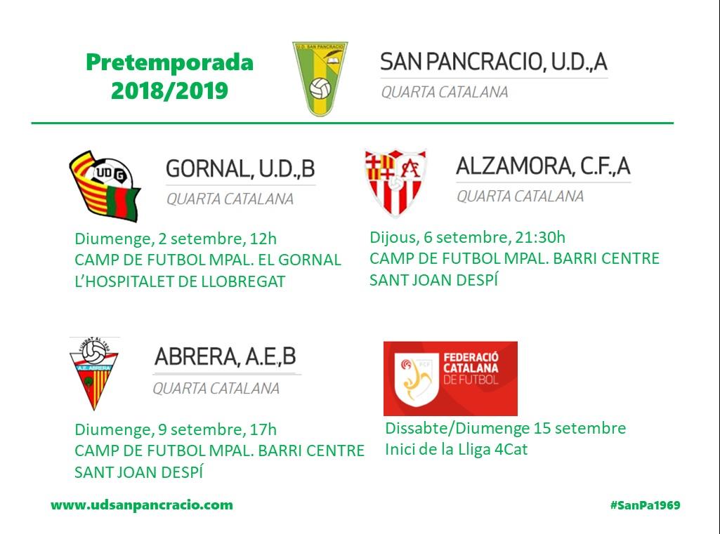 Pretemporada 2018-2019