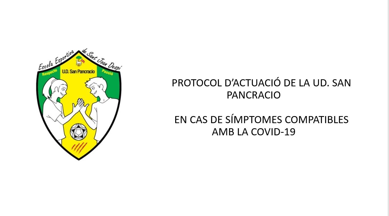 Protocol d'actuació COVID-19