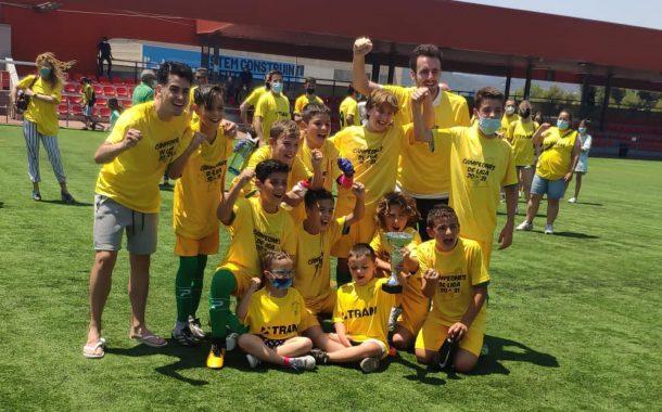 El Alevín A del Sanpa, campeón de liga de 3ª División